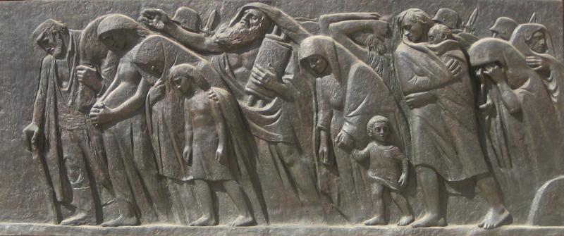 Photograph of sculpture of the last march