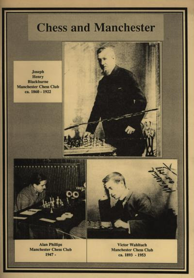"Cover of MDCA Centary Book ""Chess and Manchester"""