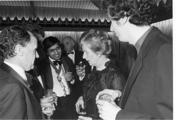 Mohammed Amin with Margaret Thatcher