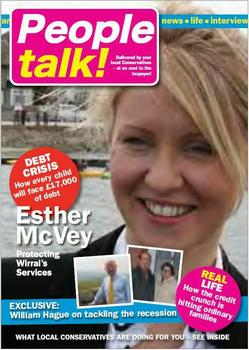 Cover of People Talk campaign leaflet used by Esther McVey