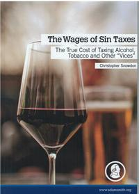 "Image of cover of booklet ""The Wages of Sin Taxes"""